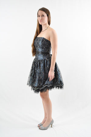 RETURNED TO LENDER ON 6/29/18. Blue Strapless Formal Dress by Jessica McClintock, Size 2