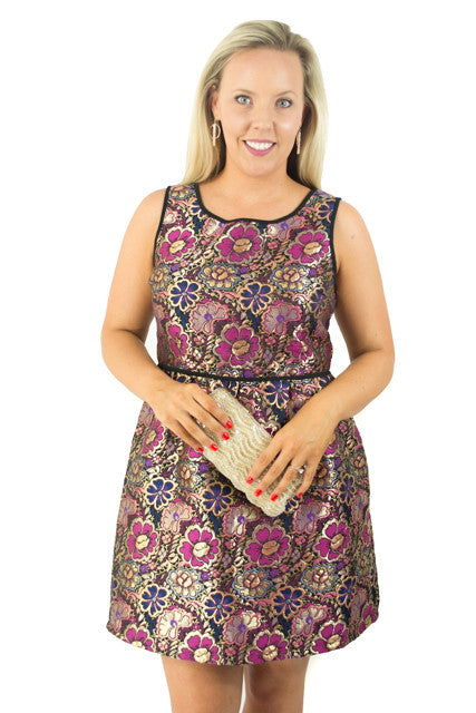 Pattern Midi Sleeveless Jewel Dress by Xhilaration, Size 8