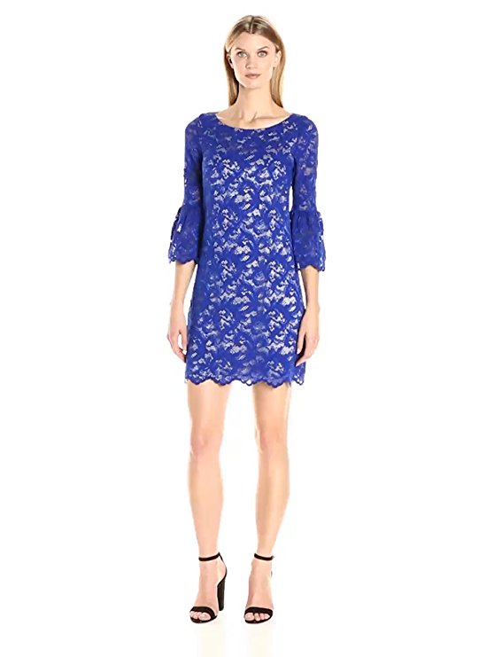 Blue Midi Long Sleeve Boat Dress by Eliza J, Size 10