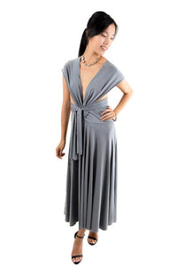RETURNED TO LENDER ON 7/27/18. Gray Strapless Formal Dress by Unlabeled, Size 4