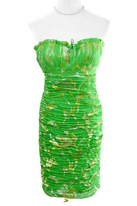 Green Strapless Sweetheart Dress by Aidan Mattox, Size 6