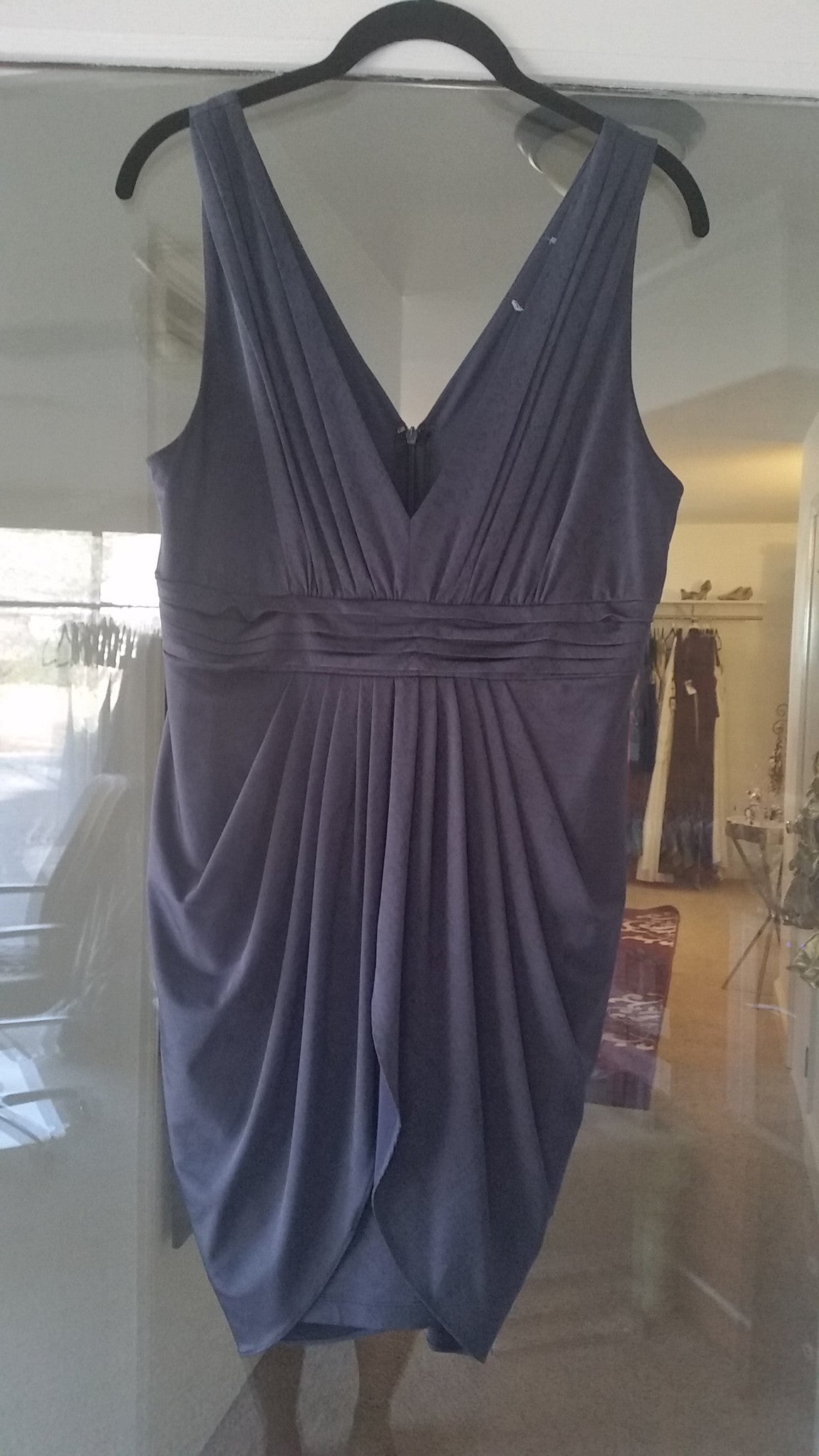 Blue Sleeveless Cocktail Dress By Unknown