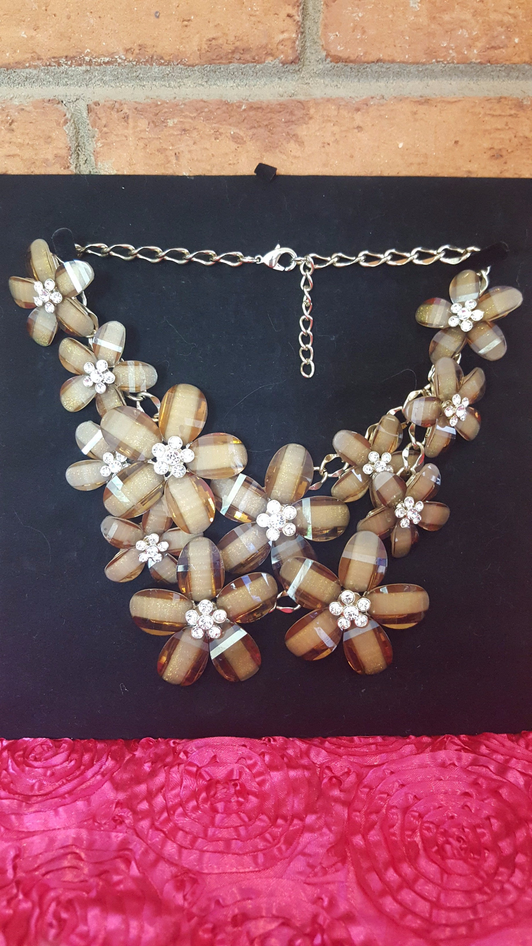 Floral Statememt Necklace Rental