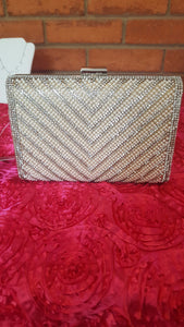 Silver Chevron Purse