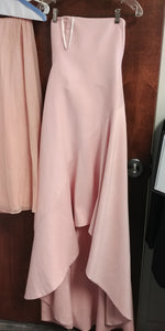 Pink Maxi Strapless Straight Across Dress by Halston Heritage, Size 6