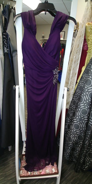 Purple sleevless jewleled maxi size 4 by XscapeSamantha Creasy May 2018