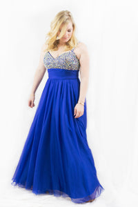 Sequined Blue Gown Size 10
