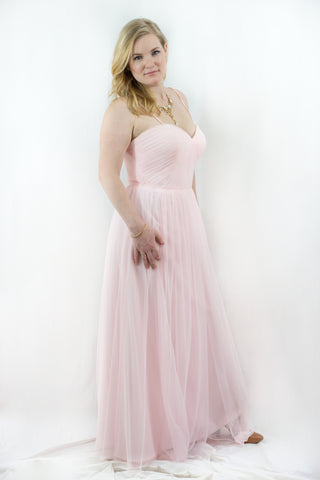 Pink Strapless Sweetheart Dress by Wtoo, Size 14