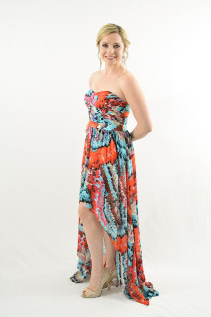 For Sale Multi Color Strapless Formal Dress By Aidan Mattox Size 6