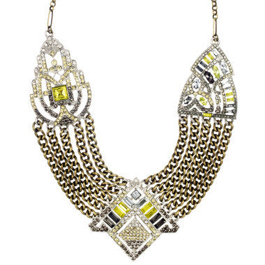 Art Deco Chain Swag Statement Necklace