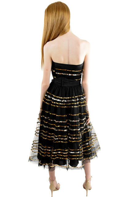 Pattern Strapless Formal Dress By Betsey Johnson Size 0 Dressed