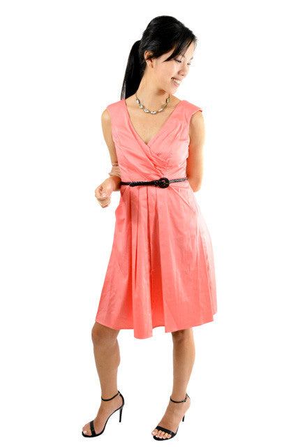 RETURNED TO LENDER ON 7/27/18. Pink Sleeveless Semi-Formal Dress by Jessica Simpson, Size 4