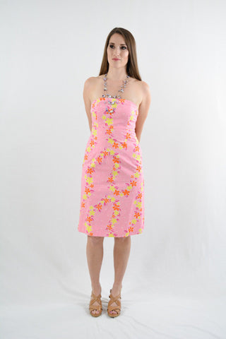Pink Strapless Day Dress by Lilly Pulitzer, Size 0