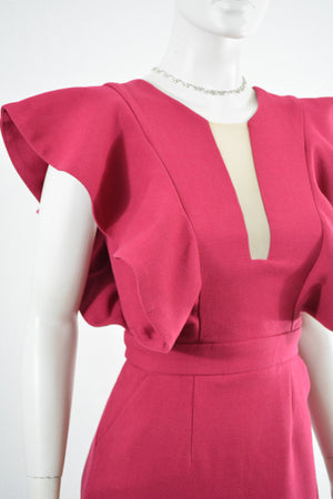 For sale:Red Short Sleeve Formal Dress by Three Floor, Size 4