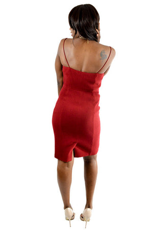 Red Sleeveless Semi-Formal Dress by J. Crew, Size 10
