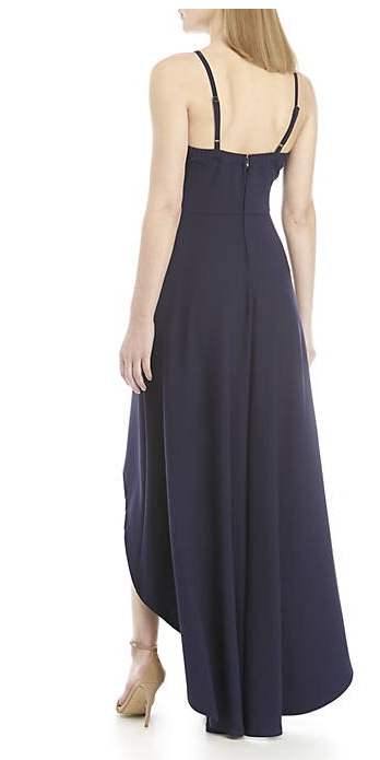 Speechless Black Scallop High Low Hem Gown, Size 5