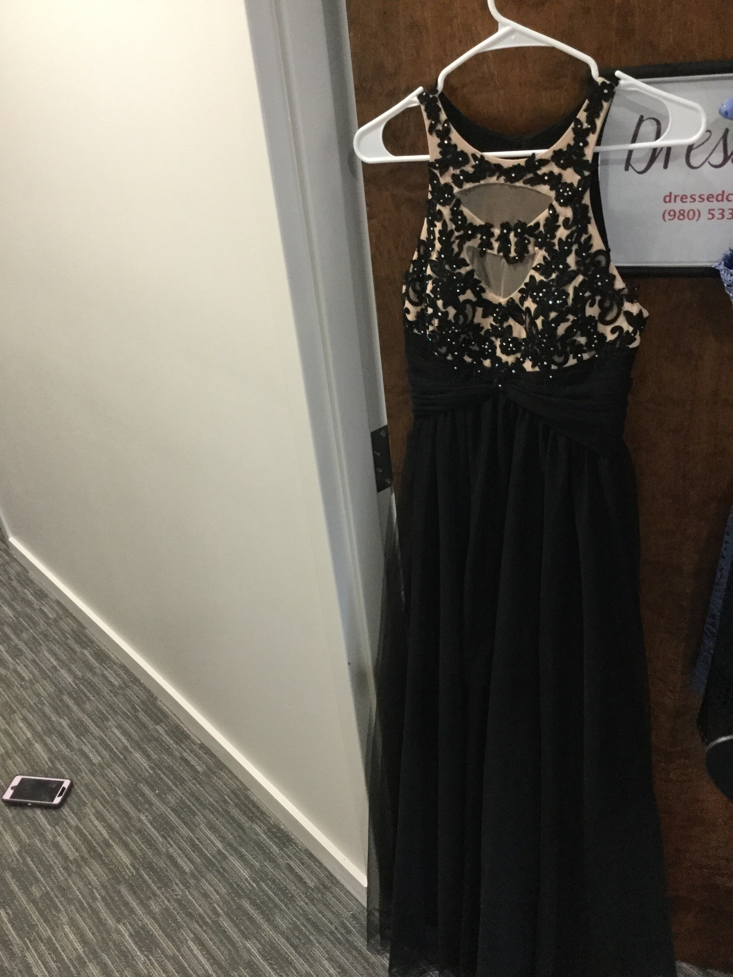 Black Maxi Dress, Leni Del Conal, Size 7 (5/29/18)
