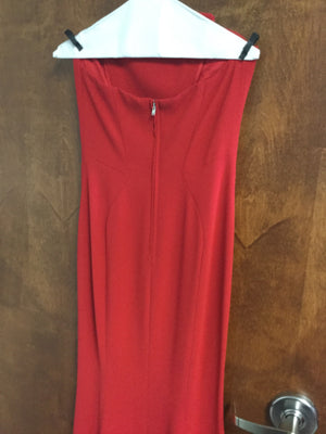 Jilljust red floor length gown Size 0 Elise Friedman