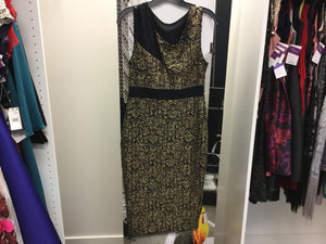 Gold/black dress (no tag), Size 10, May 2019, Jessica Summers RENT $49