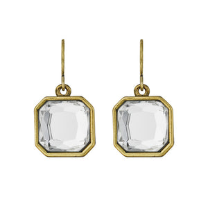 Retro Glam Square-Cut Crystal Earrings $28