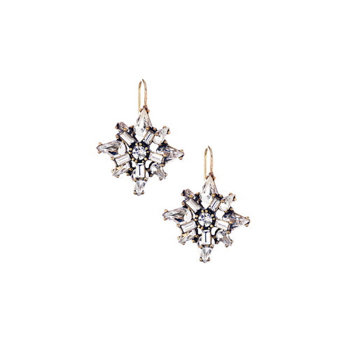 Art Deco Starburst Earrings $38