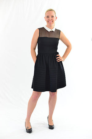 FOR SALE Black Sleeveless Semi-Formal Dress by Betsey Johnson, Size 6 FOR RENT $49