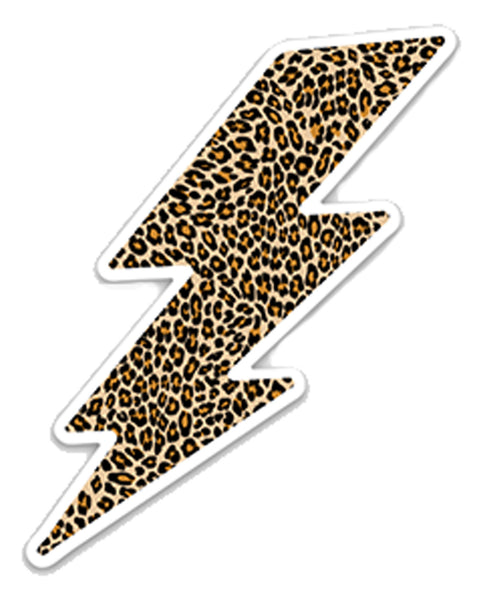 Cheetah Lightning Bolt - Sticker