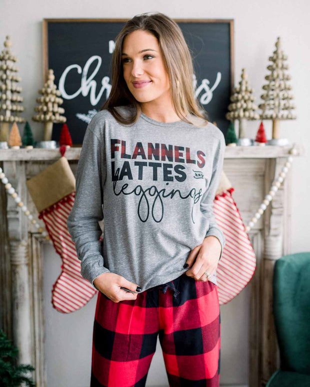 Flannels, Lattes, and Leggings - Tee