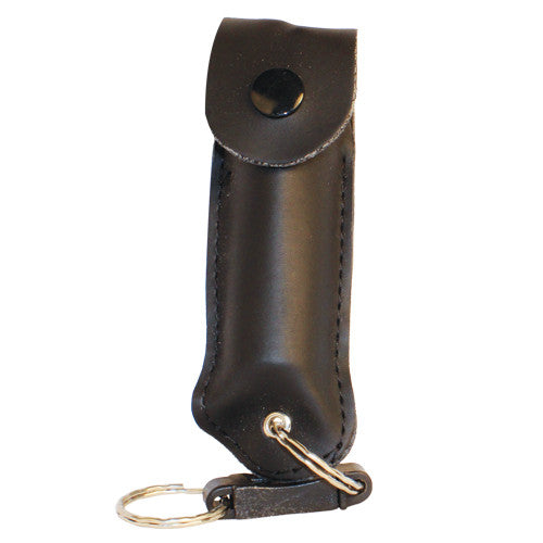 Pepper Shot Leatherette Keychain Pepper Spray - Crime Guardian