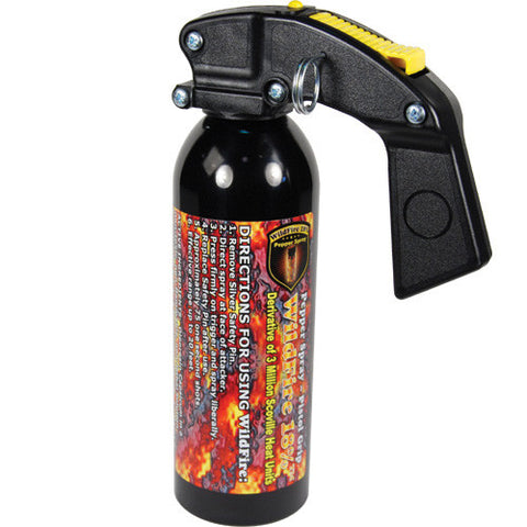 WildFire 1lb Pistol Grip Pepper Spray - Crime Guardian