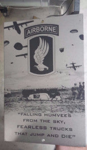 173rd Airborne 'Falling Humvees from the Sky' Steel Art