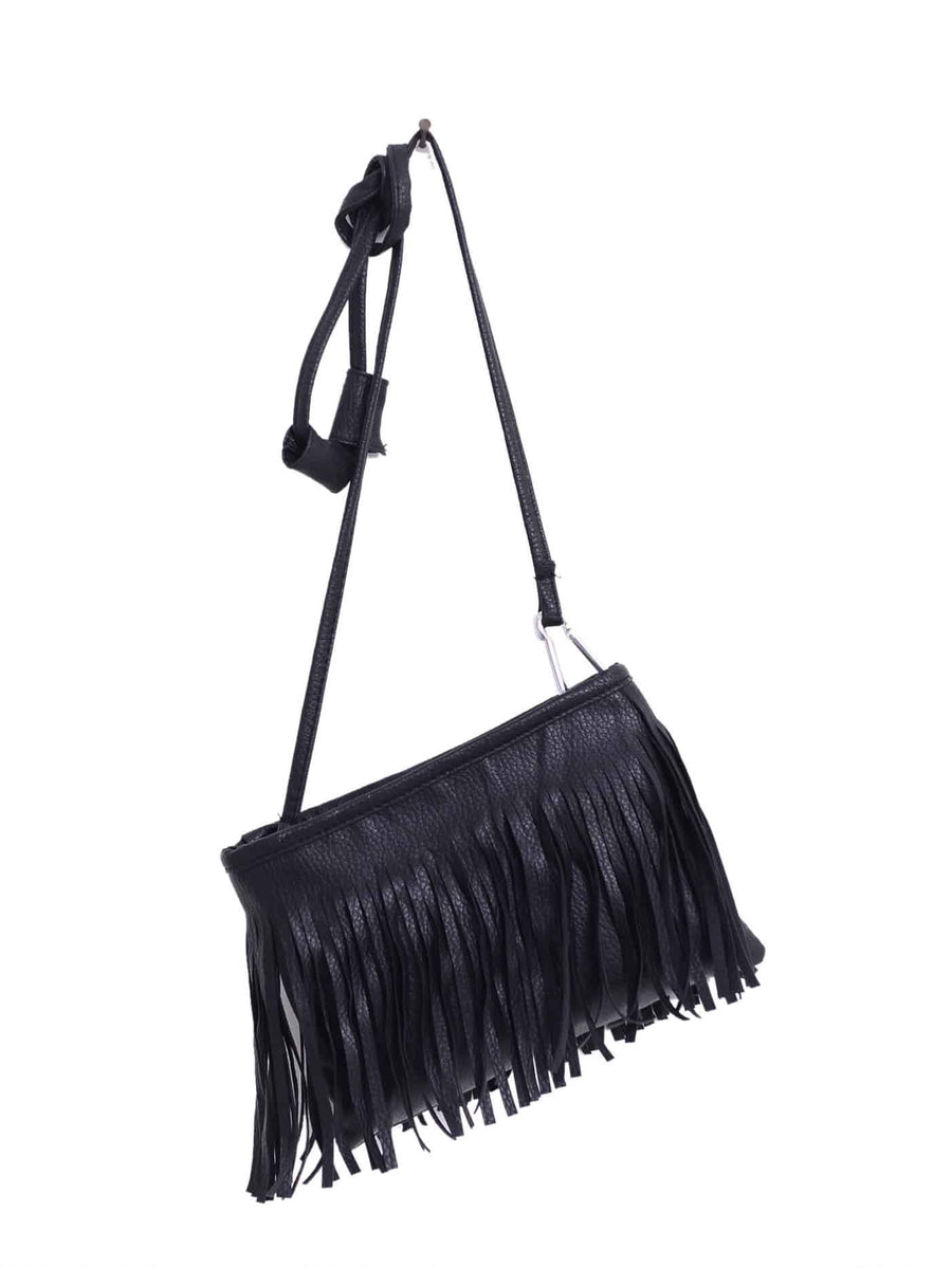Leather Tassel Crossbody