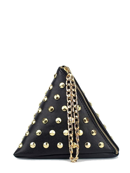 Studded Triangle Bag
