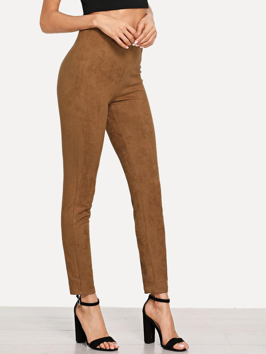 Faux Suede Skinny Pant