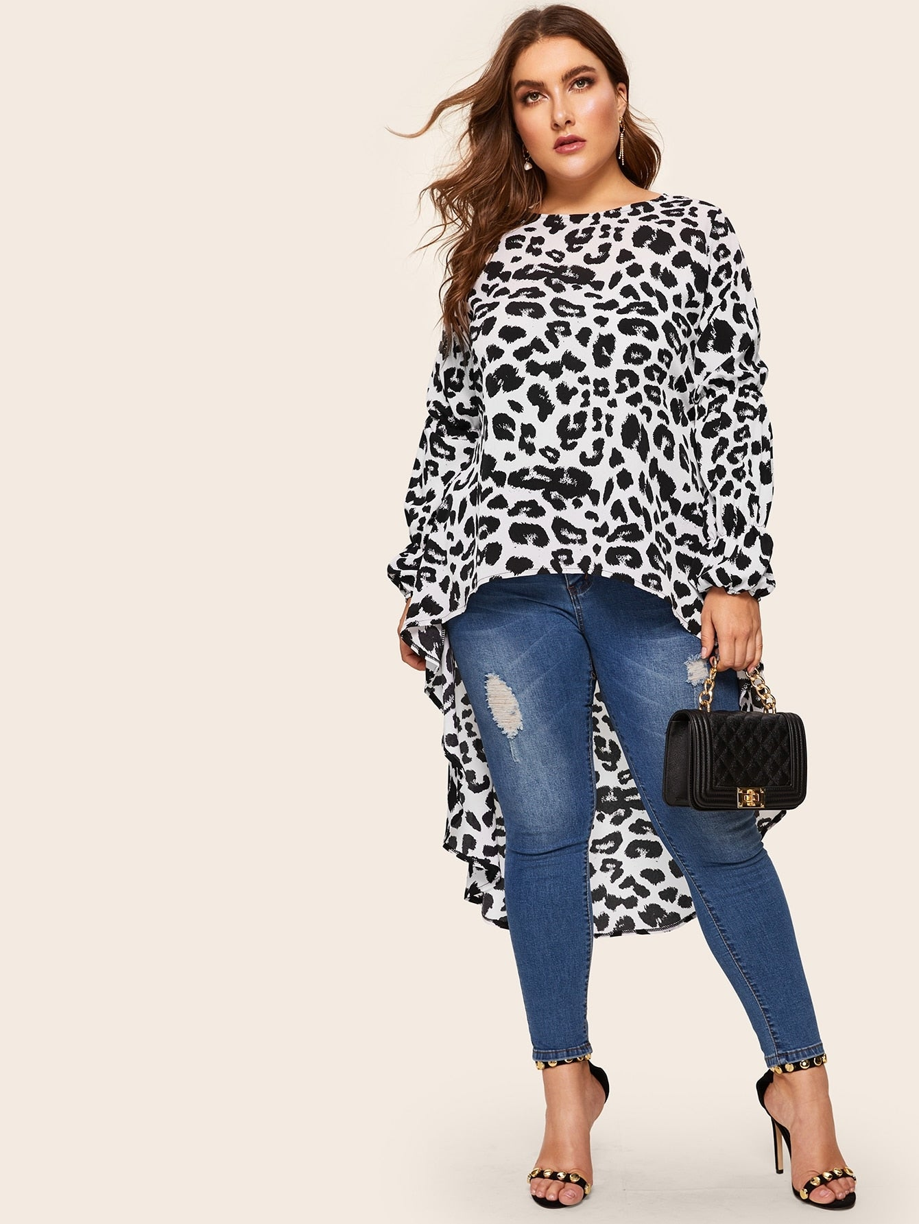 Long Leopard Blouse