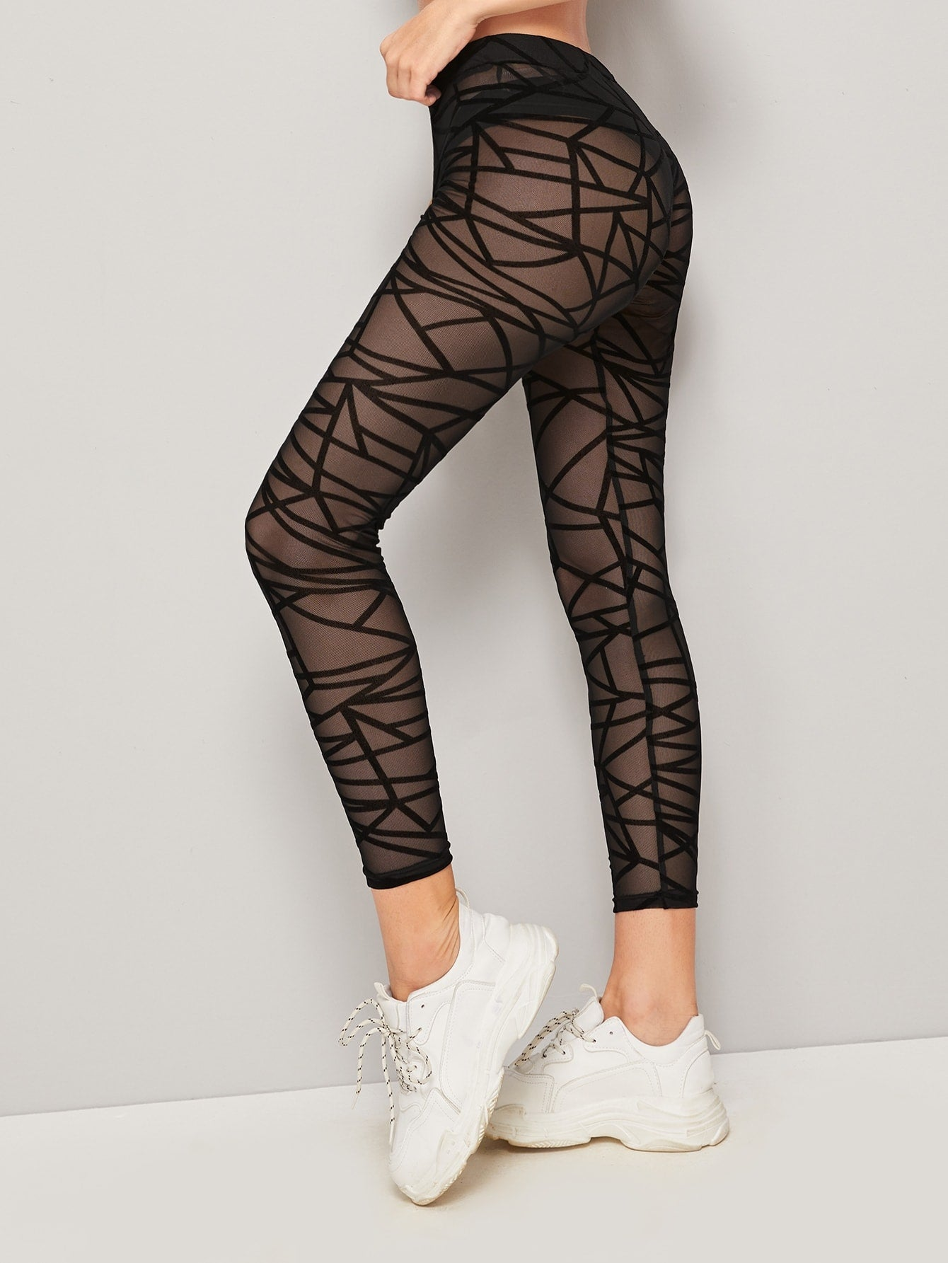 All Sheer Geo Legging