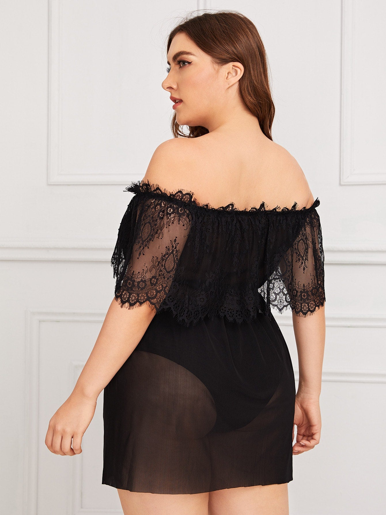 Off Shoulder Sheer