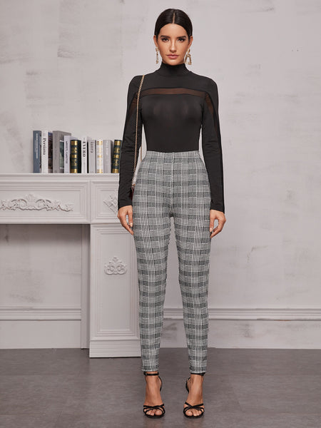 High Waist Plaid