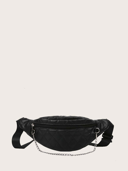 Quilted Chain Decor Fanny Pack