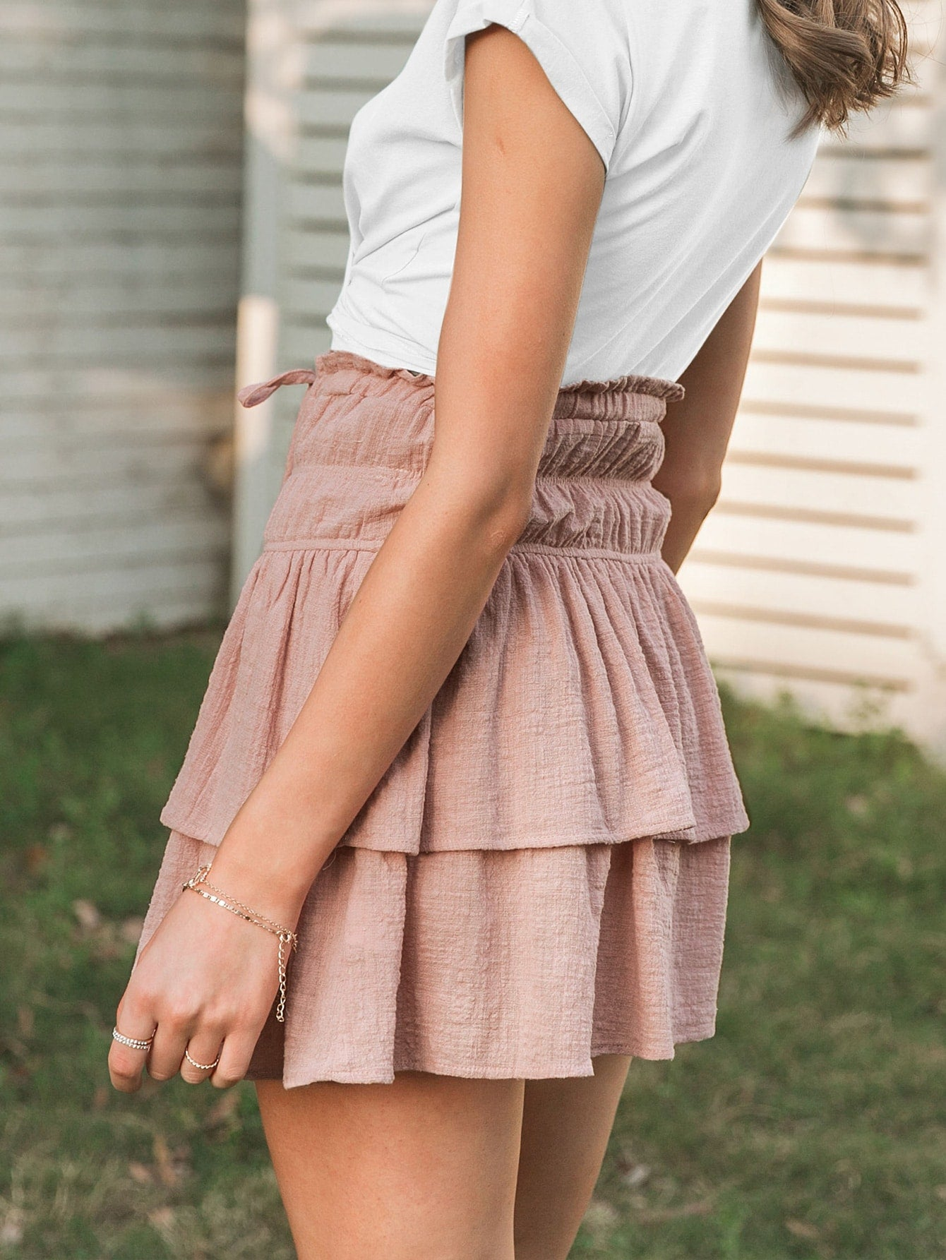 Pink Layered Skirt