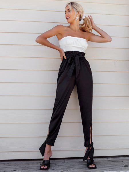 Belted Satin Pant