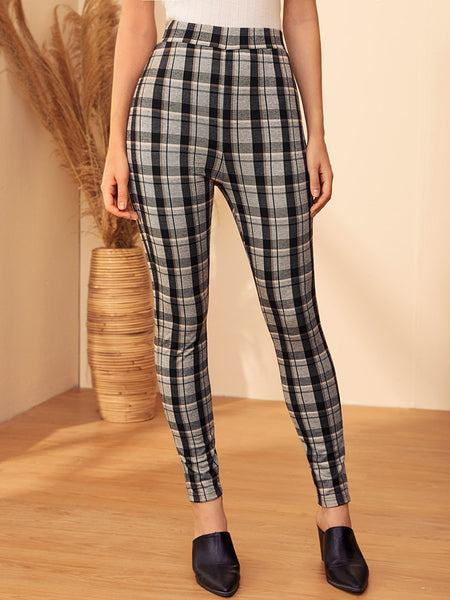 Black Plaid Legging