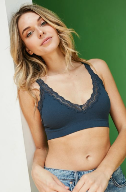 Lace Trim Padded Bralette