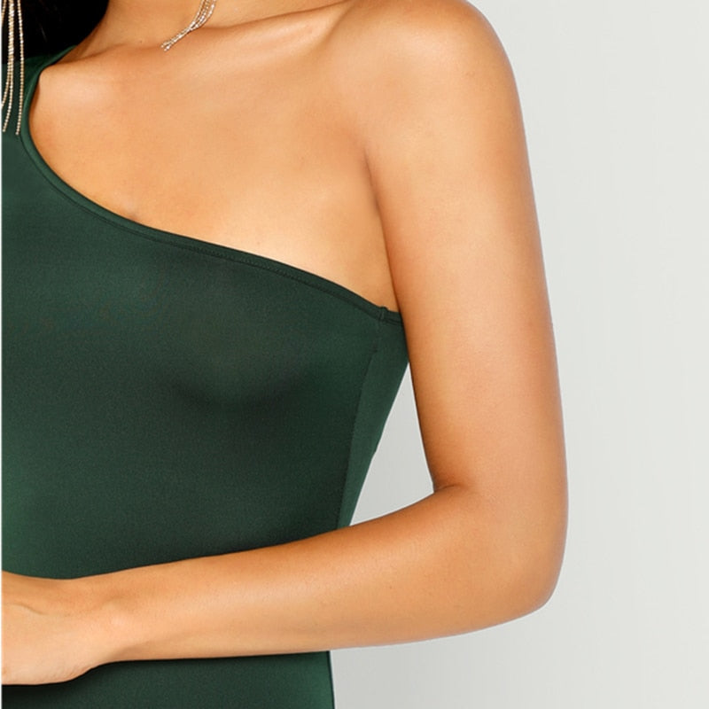 Green One Shoulder