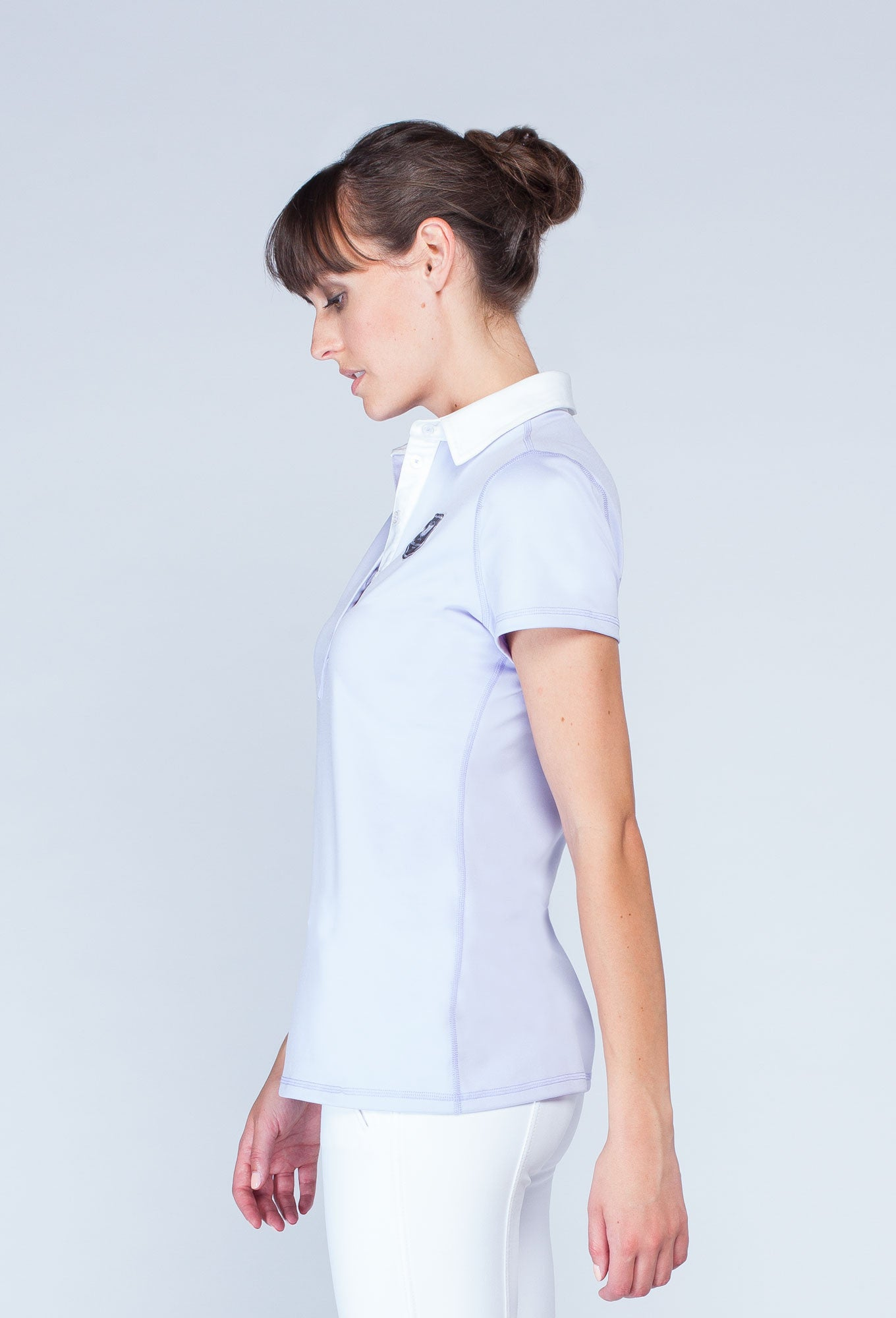 Noel Asmar Woven Collar Polo - Orchid/white - Uptown E Store