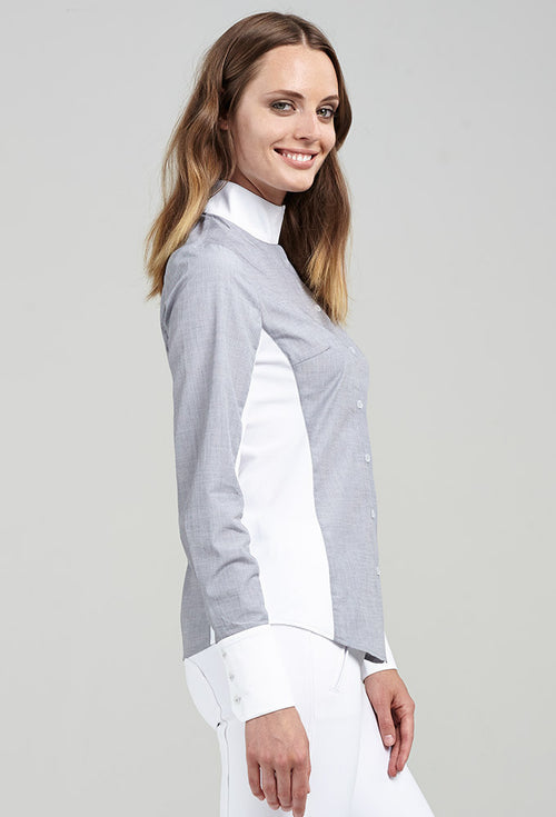 Noel Asmar Oxford Show Shirt - Grey - Uptown E Store