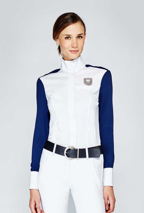 Noel Asmar Cannes Show Shirt White/Navy front