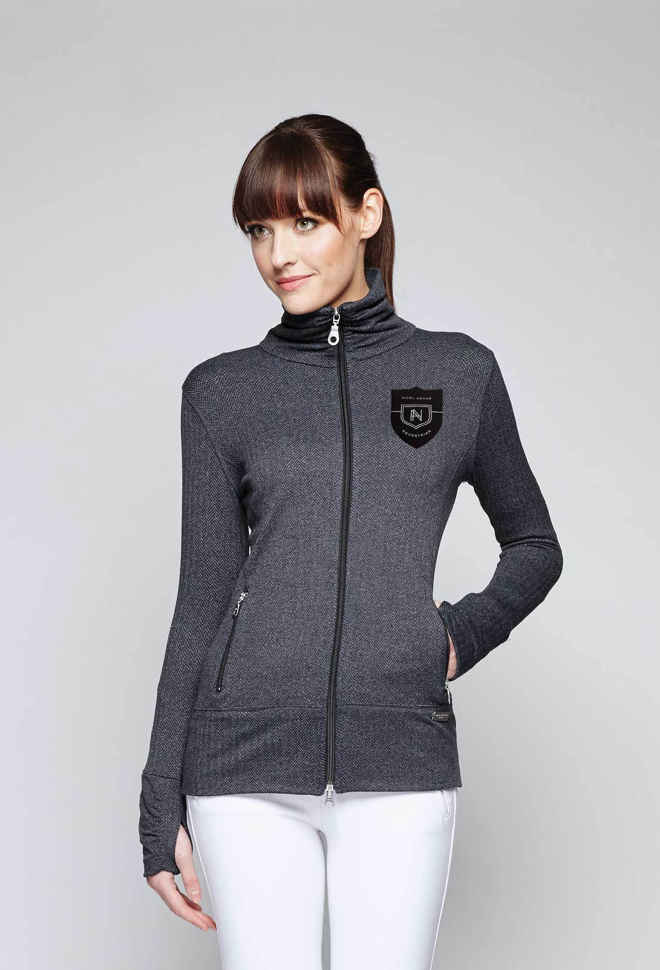 Noel Asmar Hampton Zip Up Jacket - Charcoal