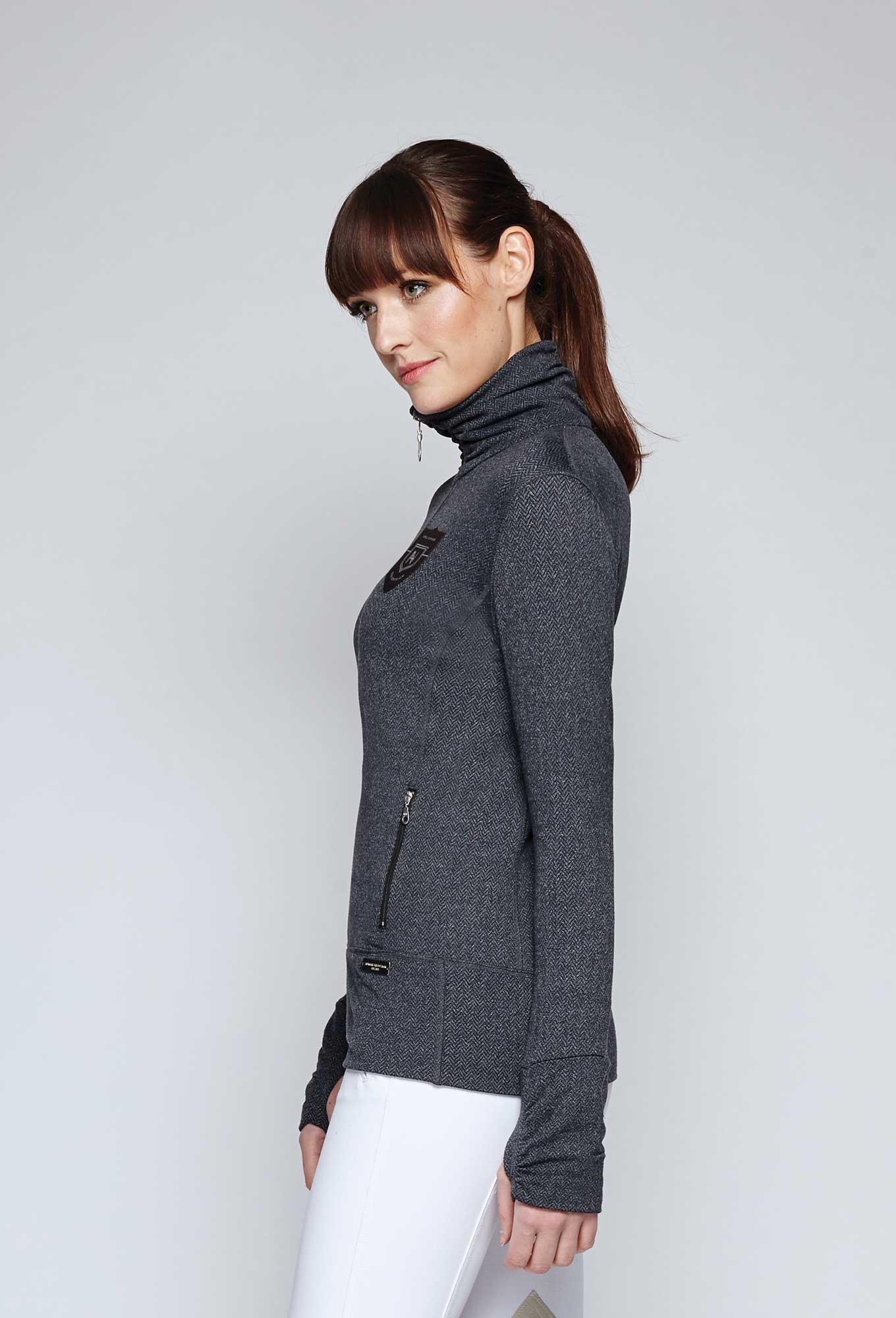 Noel Asmar Hampton Zip Up Jacket - Charcoal side