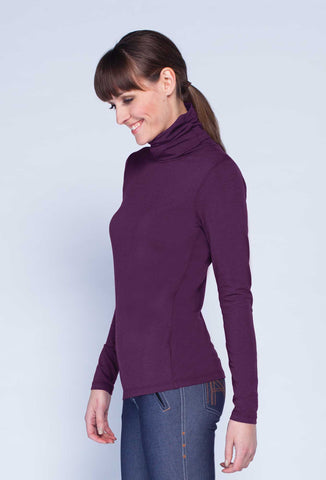 Noel Asmar Women's AE Logo Long-sleeved T - Plum